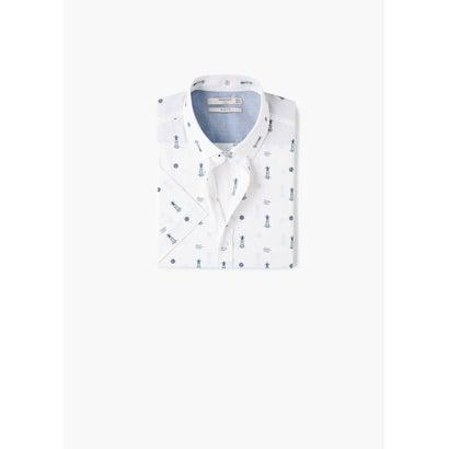 スリムフィットシャツ .-- FARO-H (ホワイト)