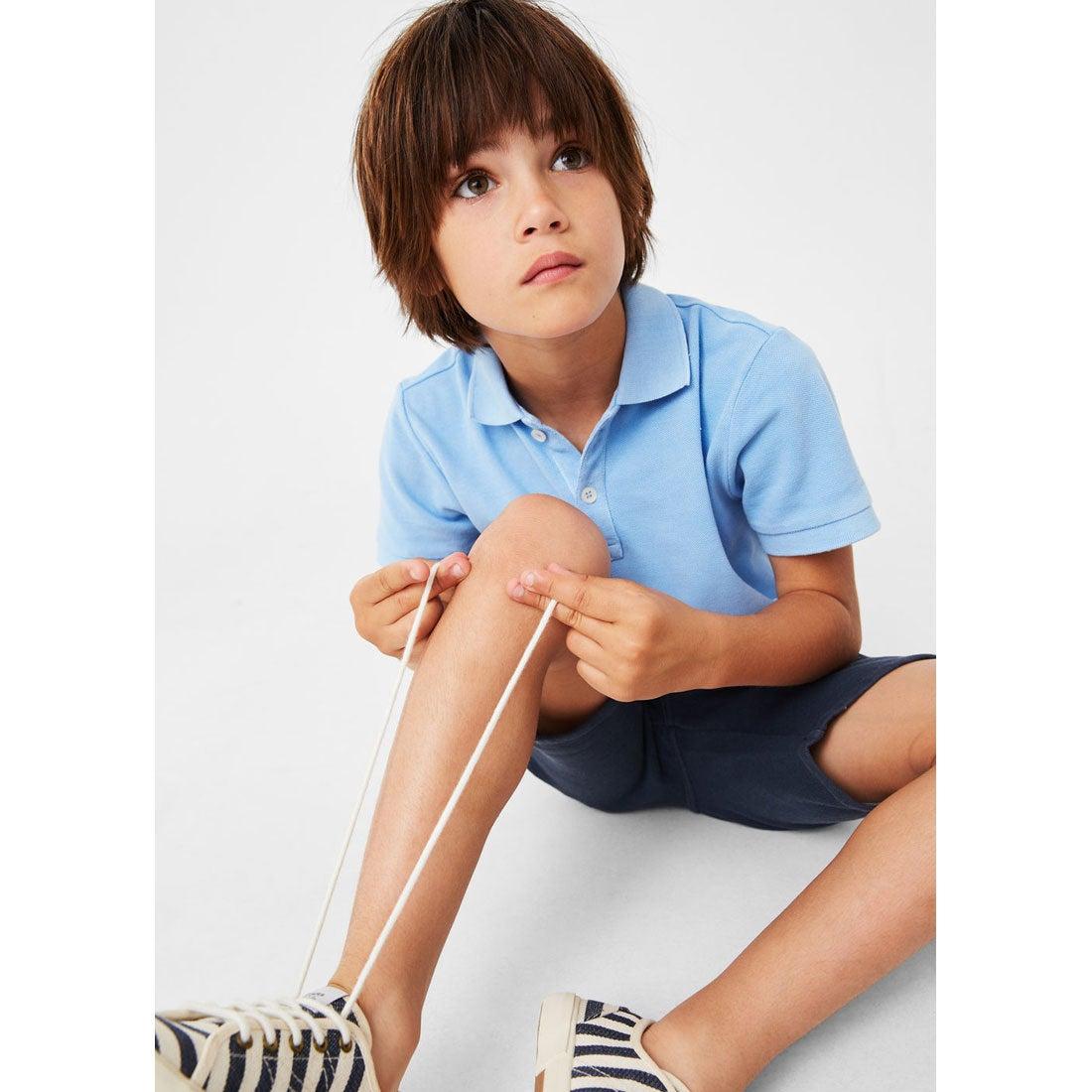 【SALE 30%OFF】ポロ シャツ . ポロ (スカイブルー) 子供・キッズ MANGO
