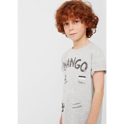 T-シャツ . MANGOL (パステルグレー)