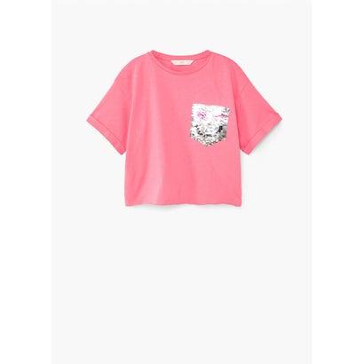 ガールズ T-シャツ (ミディアムピンク)