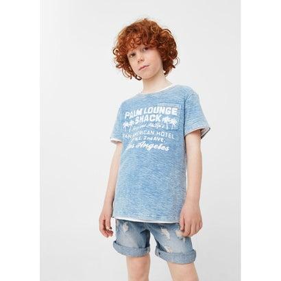 Tシャツ LOUNGE (ミディアムデニムブルー)