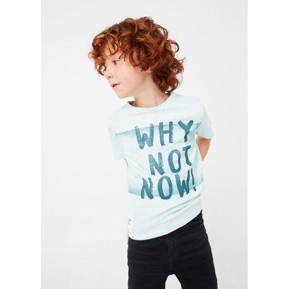 Tシャツ .-- NEVER (アクアターコイズ)