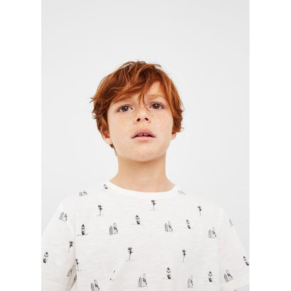 プリントTシャツ .-- DOTI (ホワイト)