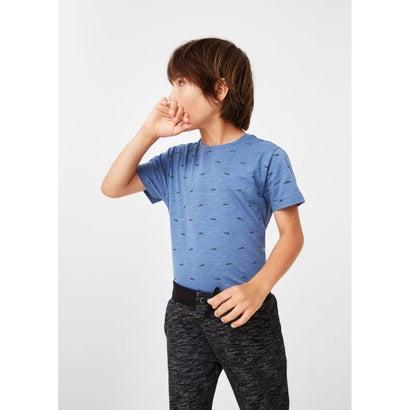 プリントTシャツ .-- DOTI (ブルー)