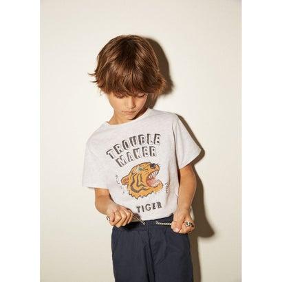 Tシャツ .-- TIGER (パステルグレー)