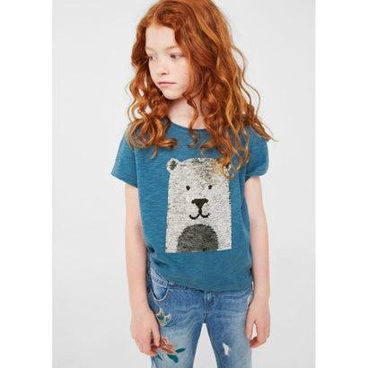 Tシャツ .-- MANI (ミディアムブルー)