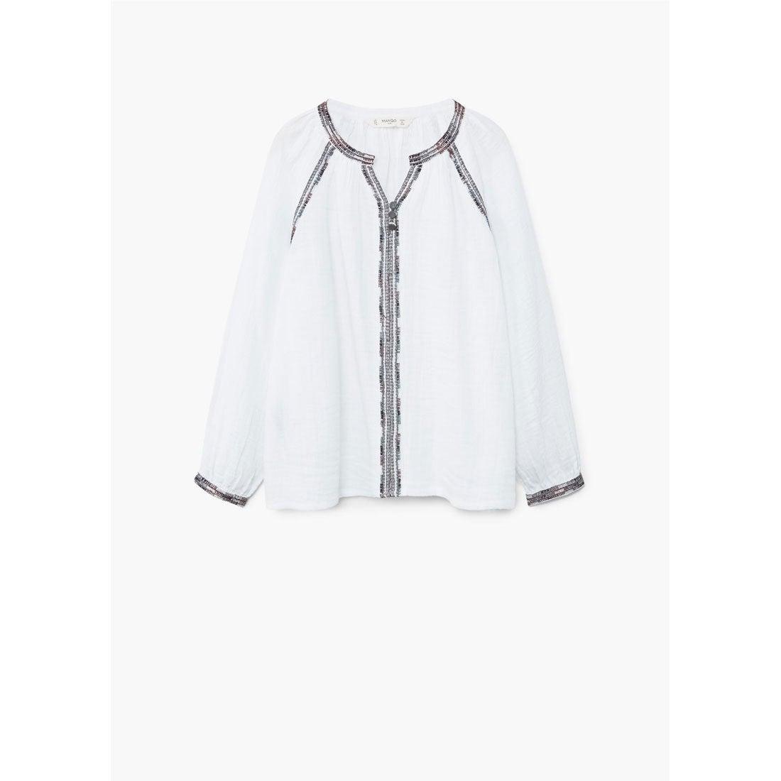 【SALE 30%OFF】シャツ .-- CHUNG (ナチュラルホワイト) 子供・キッズ MANGO