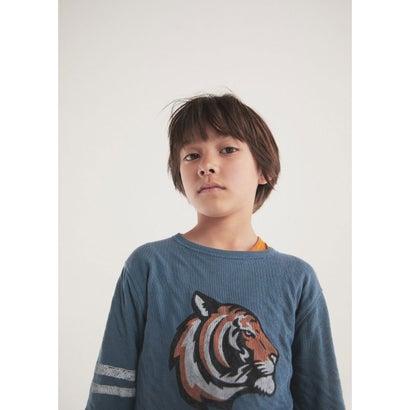 Tシャツ .-- LION (ミディアムブルー)