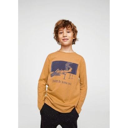 Tシャツ .-- OLLIE (ミディアムブラウン)