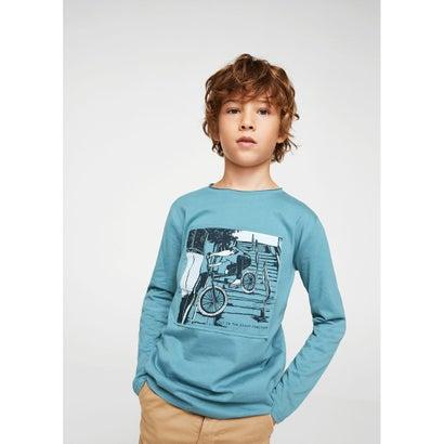 Tシャツ .-- OLLIE (ミディアムブルー)