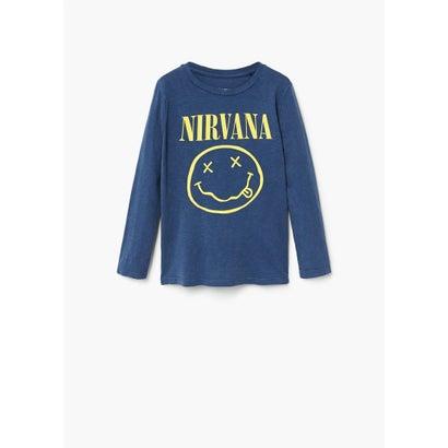 Tシャツ .-- NIRVANA (ミディアムブルー)