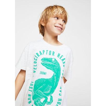Tシャツ .-- DINO (パステルグレー)