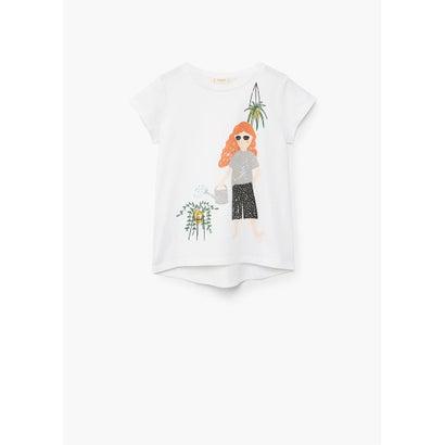 Tシャツ .-- PLANTLO (ライトベージュ)