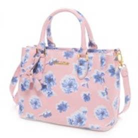 リズリサ LIZ LISA ファエリーフラワープリント2Wayミニトートバッグ(ピンク)