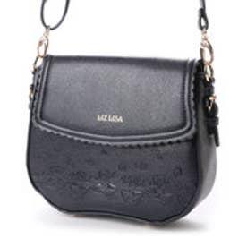 リズリサ LIZ LISA ドロップ スカラップ使いリボン型押しショルダーバッグ (ブラック)