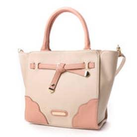 リズリサ LIZ LISA フレイル 配色2WAYミニトートバッグ (ピンク)