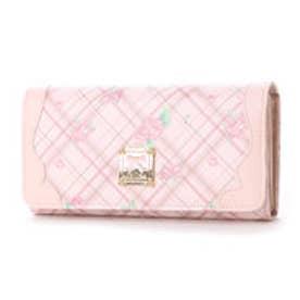 リズリサ LIZ LISA ロッチェ チェックローズ柄長財布 (ピンク)