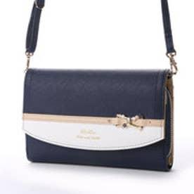 リズリサ LIZ LISA ティー リボン金具使い配色お財布ポシェット (ネイビー)