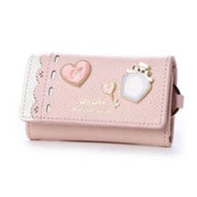 リズリサ LIZ LISA ファニー ブローチ使いラメ加工牛革キーケース (ピンク)