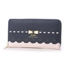 リズリサ LIZ LISA チロル リボン&スカラップラウンド長財布 (60)