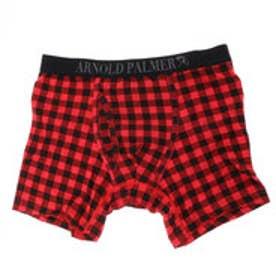 【返品不可商品】アーノルドパーマー arnold palmer ブロックプリントボクサーパンツ (レッド)