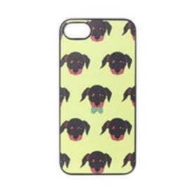 ディーパークス DPARKS iPhone7 ブラックケース Fashionable Dog ダックスフンド (イエロー)