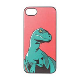 ディーパークス DPARKS iPhone7 ブラックケース ヴェロキラプトル レッド (レッド)
