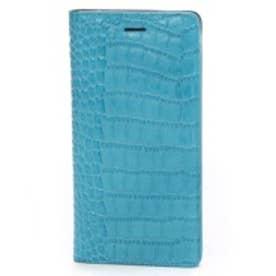 ゲイズ GAZE iPhone6 Plus Vivid Croco Diary コーラルブルー(コーラルブルー)