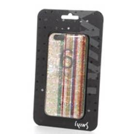 アイキンス iKins iPhone6 天然貝ケース Rainbow ブラックフレーム(Rainbow ブラック)