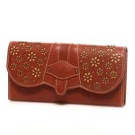 サック SAC 飾り柄かぶせ長財布(キャメル)【SAC petit】