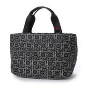 サボイ SAVOY 幾何学ロゴ柄ジャガードトートバッグ(ブラック)