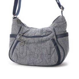 サボイ SAVOY デニム素材・ロゴキルティングのバッグ (ブルー)