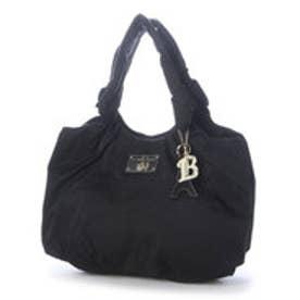 ラ バガジェリー LA BAGAGERIE チャーム付 ナイロンツイルトートバッグ Mサイズ (BLACK)