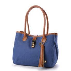 ラ バガジェリー LA BAGAGERIE リネン スクエアトートバッグ (BLUE)