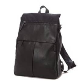 イザック Y'SACCS Nylon×Cow leather combi series Rucksack(BLACK)