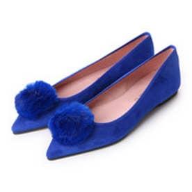 プリティ バレリーナ PrettyBallerinas ELLA suede-fur(エラ スエード-ファー)ポインテッドシューズ (ブルー)
