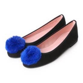 プリティ バレリーナ PrettyBallerinas MARILYN suede-fur(マリリン スエード-ファー)バレエシューズ (ブラック)