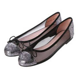 プリティ バレリーナ PrettyBallerinas MARILYN glitter-mesh(マリリン グリッターメッシュ)バレエシューズ (GREY-NEGRO)