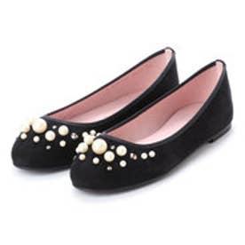 プリティ バレリーナ PrettyBallerinas MARILYN suede-pearls(マリリン スエードパール)バレエシューズ (NEGRO)