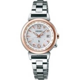 SEIKO ルキア LUKIA ワールドタイム ソーラー電波 腕時計 国産 レディース(シルバー)