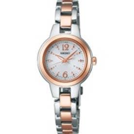 【佐々木のぞみ着用商品】SEIKO ティセ TISSE ソーラー マスコミモデル 腕時計 国産 レディース(シルバー)