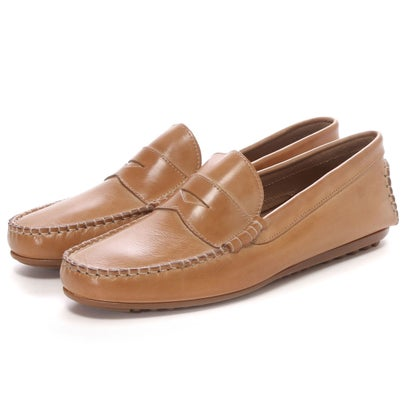 Daniele Lepori Dive Leather Moccasin: Natural