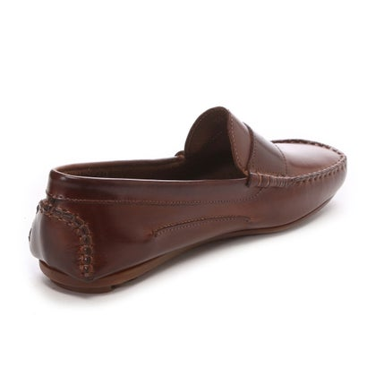 Daniele Lepori Dive Leather Moccasin: Marron