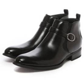 エムエムワン MM/ONE シークレットインソール仕様ロングレッグサイドゴアビジネスブーツ(ブラック)