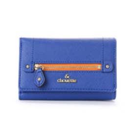 &シュエット ファスナーデザインがま口財布(ブルー)