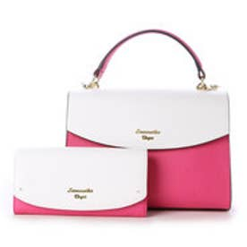 サマンサベガ お財布付きチェーンバッグ バイカラー(ピンク)