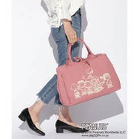 サマンサタバサデラックス スヌーピーポーチ付きキャンバストート(ピンク)