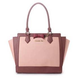 サマンサベガ リボンパスケース付きバッグ ダスティカラー大(ピンク)