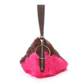 サマンサタバサ ピラミッド型ファーバッグ(フューシャピンク)