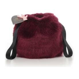 サマンサタバサプチチョイス Lara Collection ベルギーシリーズ フェイクファー巾着バッグ(ボルドー)